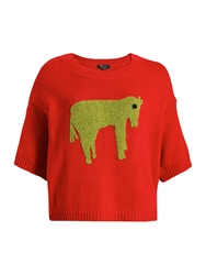 Knitted Oversized Jumper Red