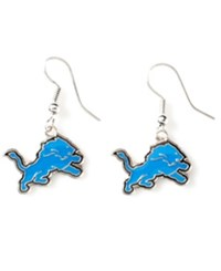 Aminco Detroit Lions Logo Drop Earrings Team Color