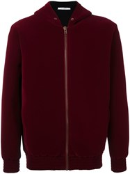 Givenchy Cobra Print Velour Hoodie Red