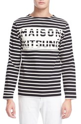 Maison Kitsune Men's Maison Kitsune Nautical Stripe Graphic T Shirt