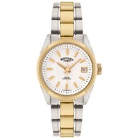 Rotary Lb02660 07 Women's Two Tone Stainless Steel Bracelet Strap Watch Silver Gold