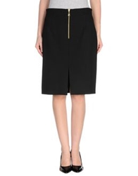 Versace Collection Knee Length Skirts Black