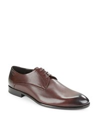 Hugo Boss Dresios Lace Up Leather Oxfords Brown