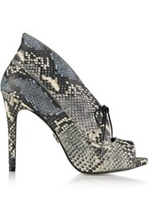 Pour La Victoire Vika Snake Effect Leather Pumps Snake Print