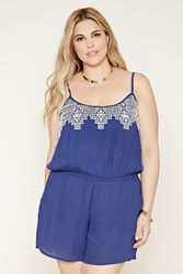 Forever 21 Plus Size Embroider Cami Romper