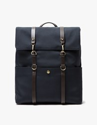 Mismo M S Backpack In Navy Navy Dark Brown