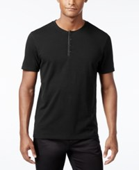Inc International Concepts Men's Dressy Henley Only At Macy's Black