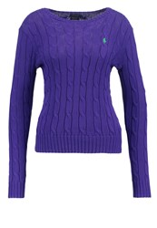 Polo Ralph Lauren Julianna Jumper Squire Purple Mottled Pink