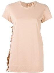 N 21 Nao21 Side Ruffle T Shirt Pink And Purple