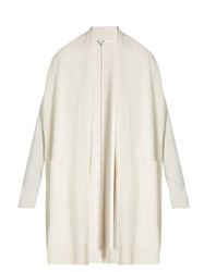 Vince Long Sleeved Wool And Cashmere Knit Cardigan Ivory