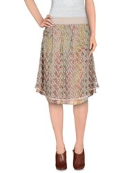 Manila Grace Denim Skirts Knee Length Skirts Women