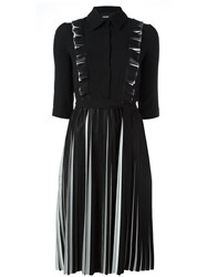 Marco Bologna Pleated Longsleeved Dress Black