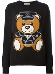 Moschino Teddy Bear Intarsia Jumper Black