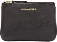 Comme Des Garcons Wallets Black Small Leather Pouch
