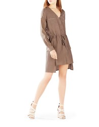 Bcbgmaxazria Daya Twill Cotton Shirtdress Brown