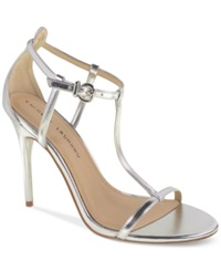 Chinese Laundry Leo T Strap Dress Sandals Women's Shoes Silver