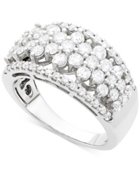 Wrapped In Love Diamond Flower Ring 1 1 2 Ct. T.W In 14K White Gold