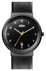 Men's Braun 'Classic' Leather Strap Watch 40Mm