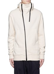 Nlst Double Zip Front Hoodie White