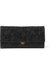 Michael Kors Collection Yasmeen Metallic Floral Brocade Clutch Black