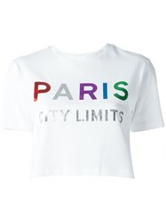 Etre Cecile 'Paris' Cropped T Shirt White