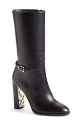 Burberry 'Marling' Equestrian Boot Women Black