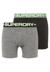 Superdry 2Pack Shorts Fleck Black Fluro Lime Dark Grey Fleck