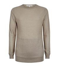 Helmut Lang Panel Pocket Knit Sweater Male Beige