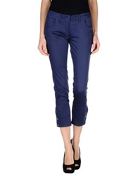 Entre Amis Casual Pants Dark Blue
