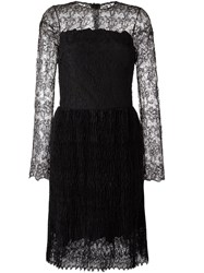 Ermanno Scervino Lace Overlay Dress Black