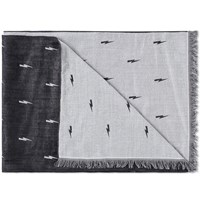 Neil Barrett Thunder Bolt Jacquard Scarf Black