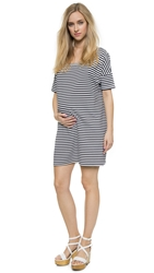 Hatch The Afternoon Dress Navy White