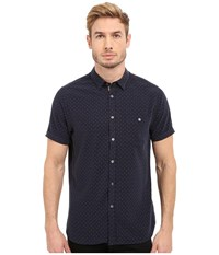 Ted Baker Everyone Short Sleeve Modal Shirt Navy Men's Clothing
