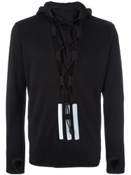 Y 3 Lace Up Detail Sweatshirt Black