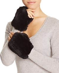 Magaschoni Fingerless Fur And Cashmere Gloves Black