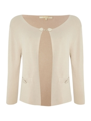 La Fee Maraboutee Single Knit 3 4 Length Sleeved Cardigan Pale Pink