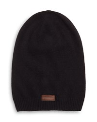 True Religion Ribbed Slouchy Beanie Hat Black