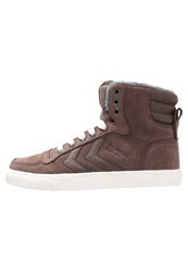 Hummel Stadil Winter Hightop Trainers Chestnut Brown