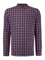 Criminal Davies 3 Colour Gingham Ls Shirt Multi Coloured