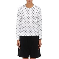 Comme Des Garcons Girl Women's Polka Dot Long Sleeve T Shirt White