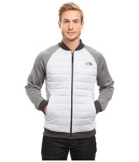 The North Face Norris Point Insulated Full Zip Tnf Light Grey Heather Tnf Medium Grey Heather Men's Clothing White