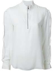 3.1 Phillip Lim High Collar Blouse White