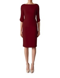 Black Halo Nuelle Sheath Dress Red