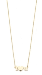 Jennifer Meyer Jewelry I Heart U Necklace Gold