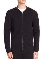 Michael Kors Merino Wool Double Knit Hoodie Black