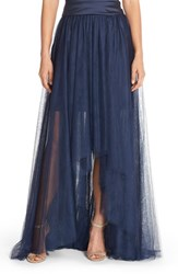 Women's Monique Lhuillier Bridesmaids High Low Tulle Overskirt Navy