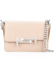 Tod's Micro 'Double T' Shoulder Bag Nude And Neutrals