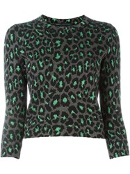 Marc By Marc Jacobs Leopard Knit Sweater Black