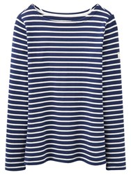 Joules Harbour Stripe Long Sleeve Jersey Top French Navy Stripe