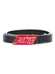 Jean Paul Gaultier Vintage Metal Logo Belt Black